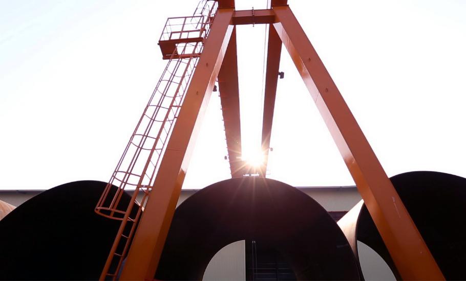 煉工廠 鋼構製造 振鍵產業 雙軌 門型 吊車 工程