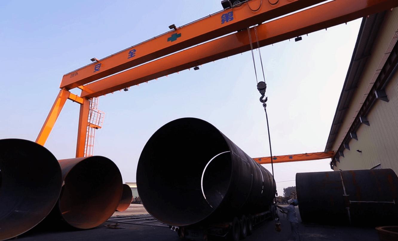 煉鋼廠 鋼構製造 振鍵產業 雙軌 15噸 60噸 門型 吊車 工程