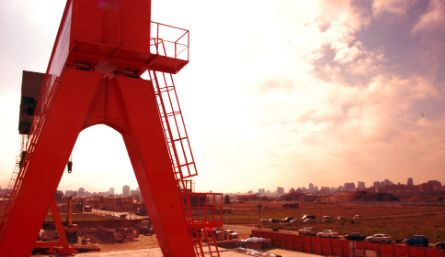 Gantry type crown block construction project
