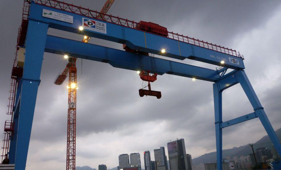 公共工程 香港 啟德 油輪 碼頭 開放式 門型 吊車 工程