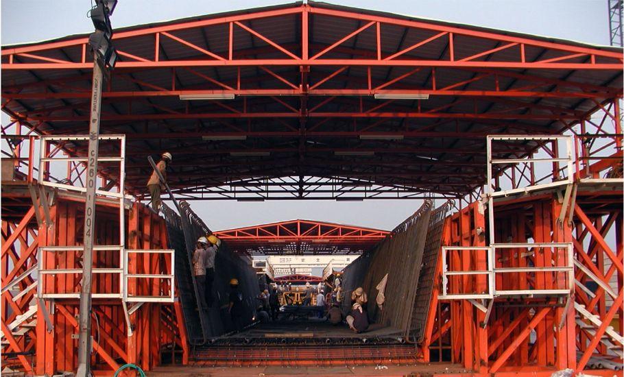 公共工程 皕德 大陸 台灣 高鐵 工程 開放式 門型 吊車 工程 移動式 廠房