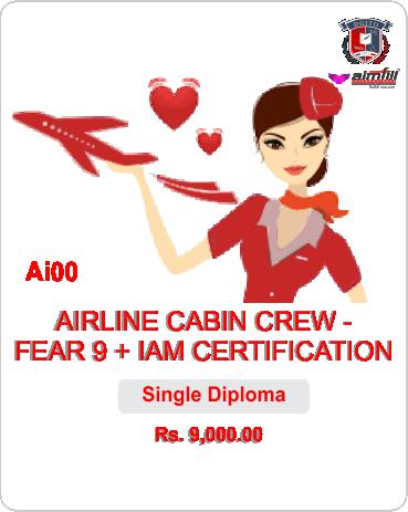 AI00 AIRLINE CABIN CREW - FEAR 9 + IAM CERTIFICATION - DGITO