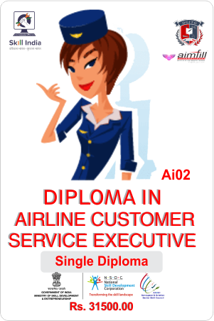AI02 DIPLOMA IN AIRLINE CUSTOMER CARE SERVICE WITH NSDC GOVERNMENT OF INDIA CERTIFICATION