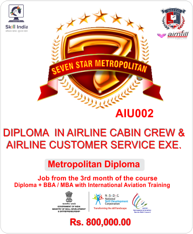 AIU002 - METROPOLITAN DIPLOMA IN AIRLINE HOSPITALITY & TRAVEL MANAGEMENT WITH UG / PG