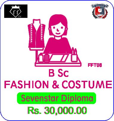 SEVENSTAR B Sc Fashion and Costume Designing + Diploma Graphic Designing / Jwellry Designing + Laptop + Internship