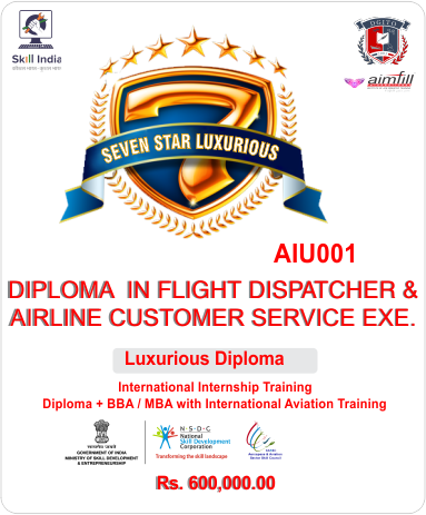 LUXURY Diploma in Airline Hospitality & Travel Management With UG / PG