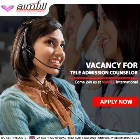 Aimfill-admission-telecaller-job-vacancy