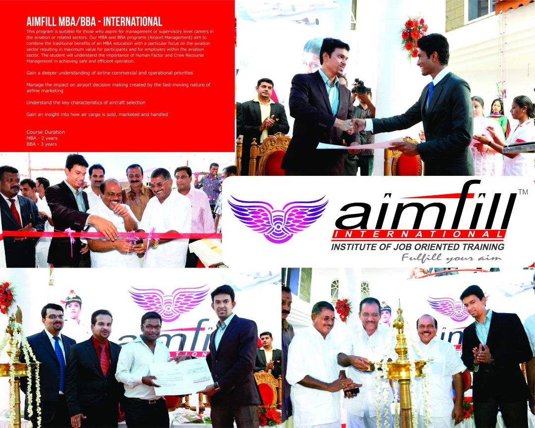 Aimfill air hostess pilot training academy admissions and placements
