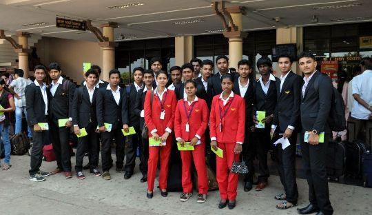 AIMFILL AIRPORT VISIT- Sevenstar students