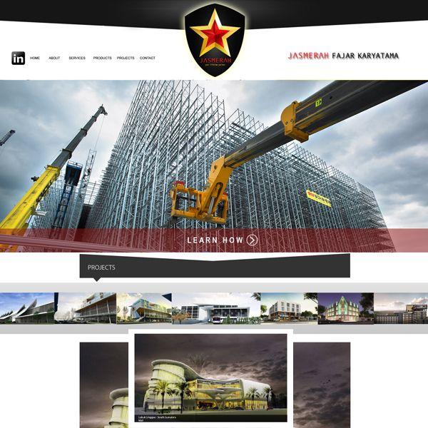 Project: Web Design, Client: JM Construction
