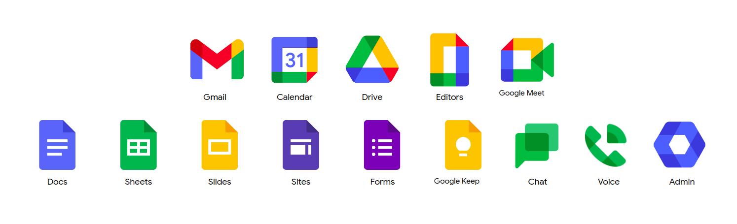 Produits, outils, logiciels de Google Workspace