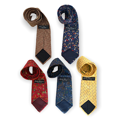5 Salvatore Ferragamo Silk Ties