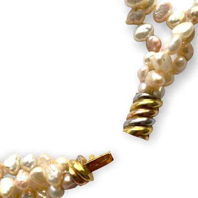 3- Strand Freshwater Pearl Necklace