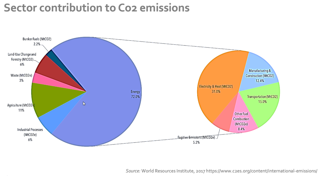 carbon emissions sector contribution