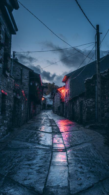 street road at night