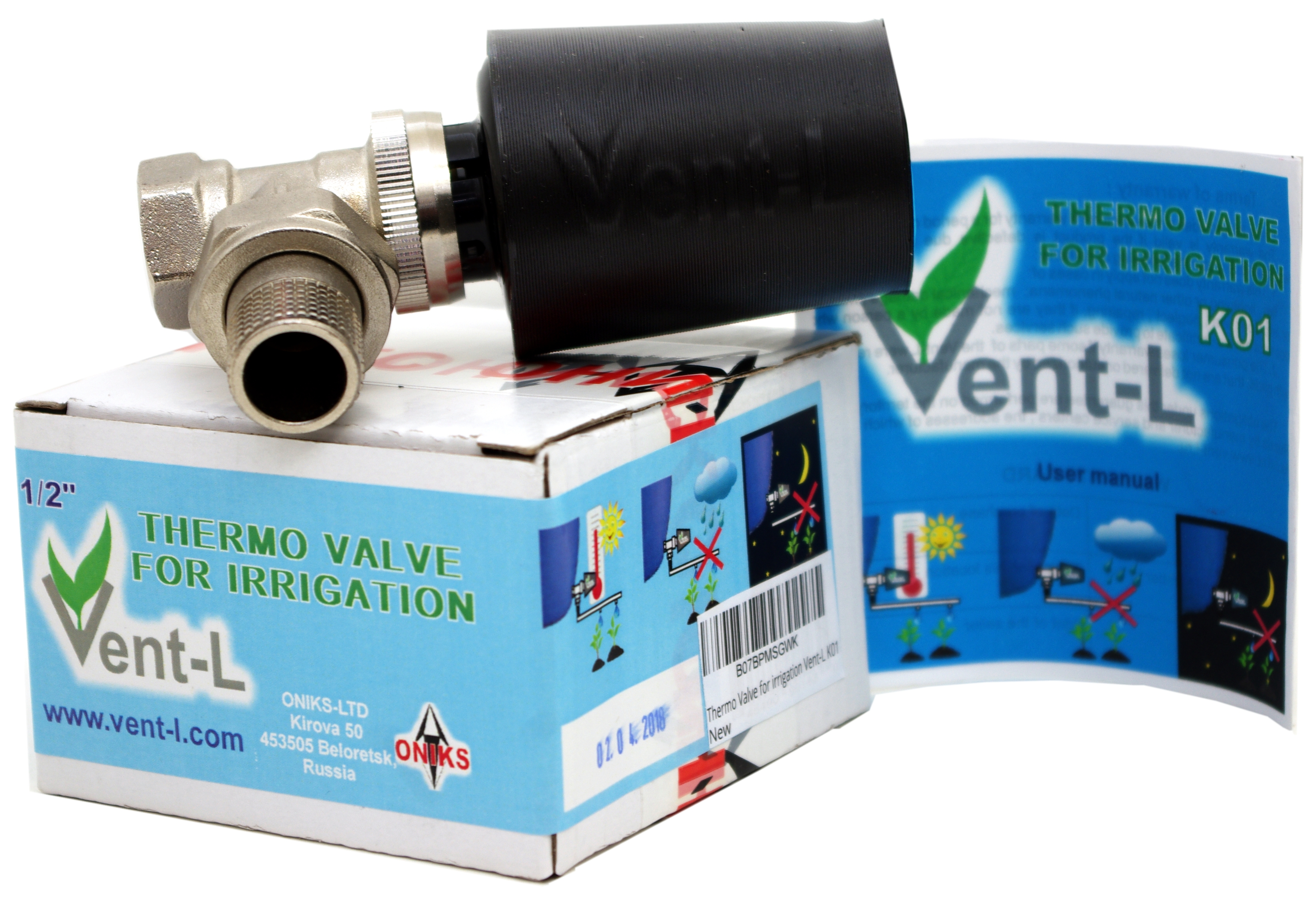 "Vent-L Thermo Valve for Irrigation K01, 1/2"" Opening Adjustment from 50-82°F"