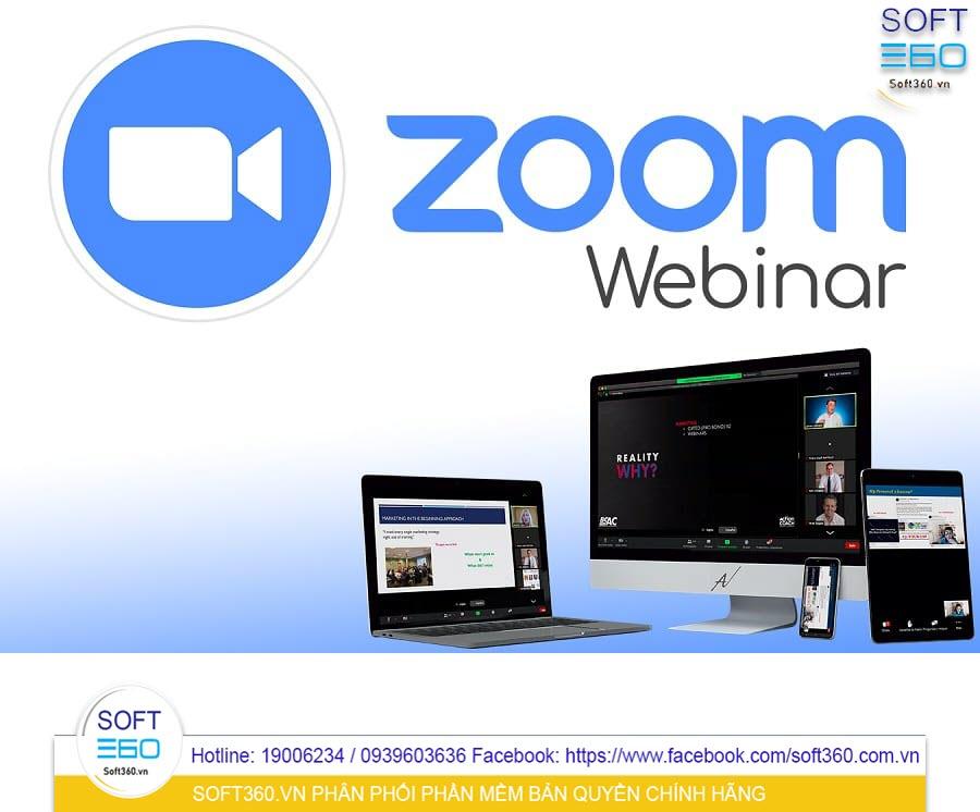 Combo Zoom Pro + Webinar 10000 Attendees 1 năm