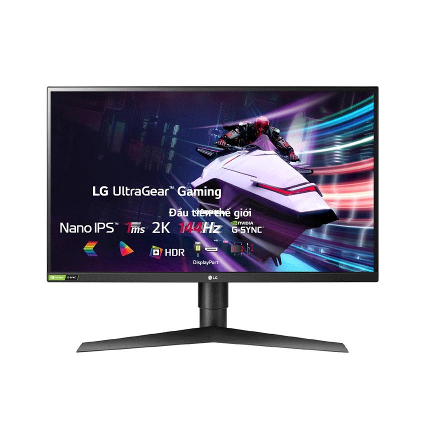 Màn hình LG 27GL850-B (27 inch/2K/Nano IPS/144Hz/1ms/350 nits/DP+HDMI/GSync+FreeSync) chính hãng