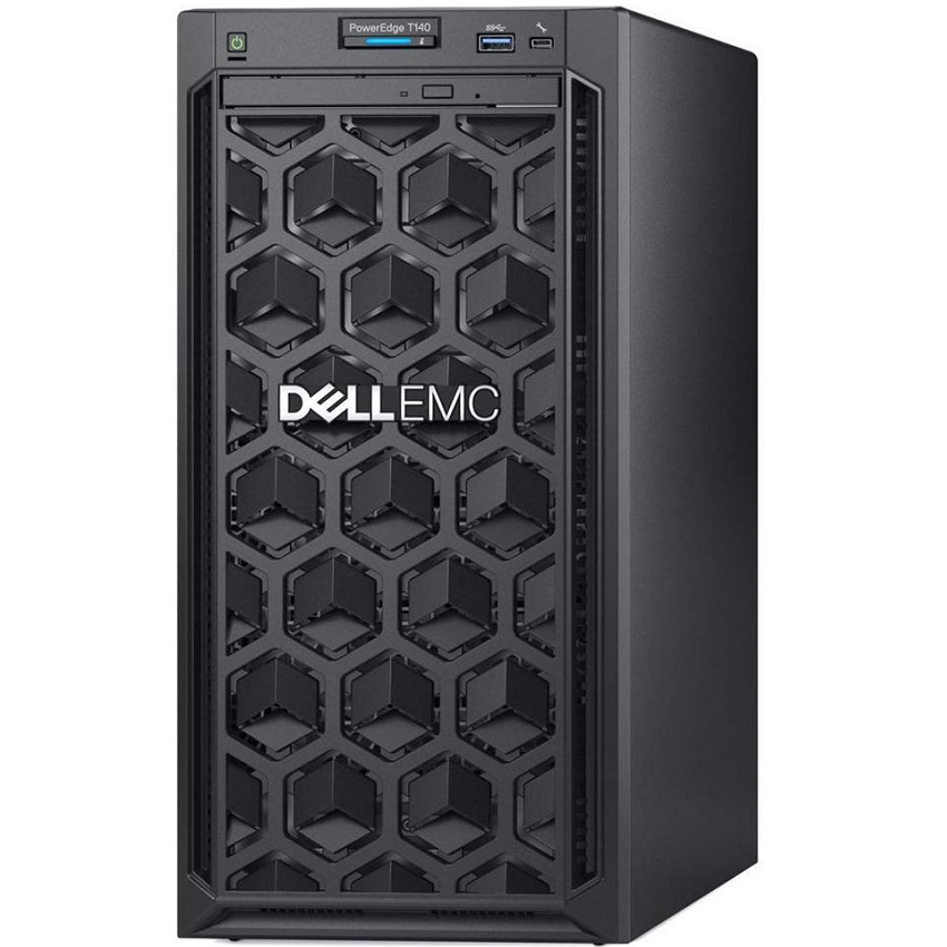 Server Dell PowerEdge T140 (Xeon E-2224/8GB RAM/PERC H330/1TB HDD/DVDRW) - (42DEFT140-502) chính hãng