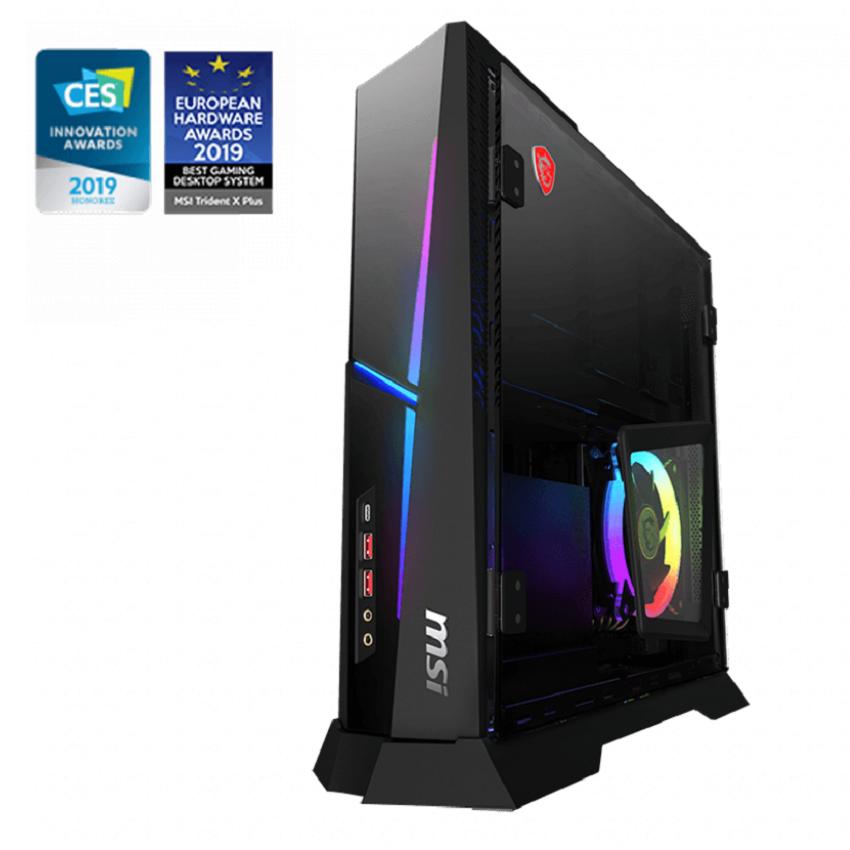 PC MSI Trident X Plus (i7-9700K/16GB (2x8GB) RAM/256GB SSD + 1TB HDD/RTX 2080) (9SE-256XVN) chính hãng