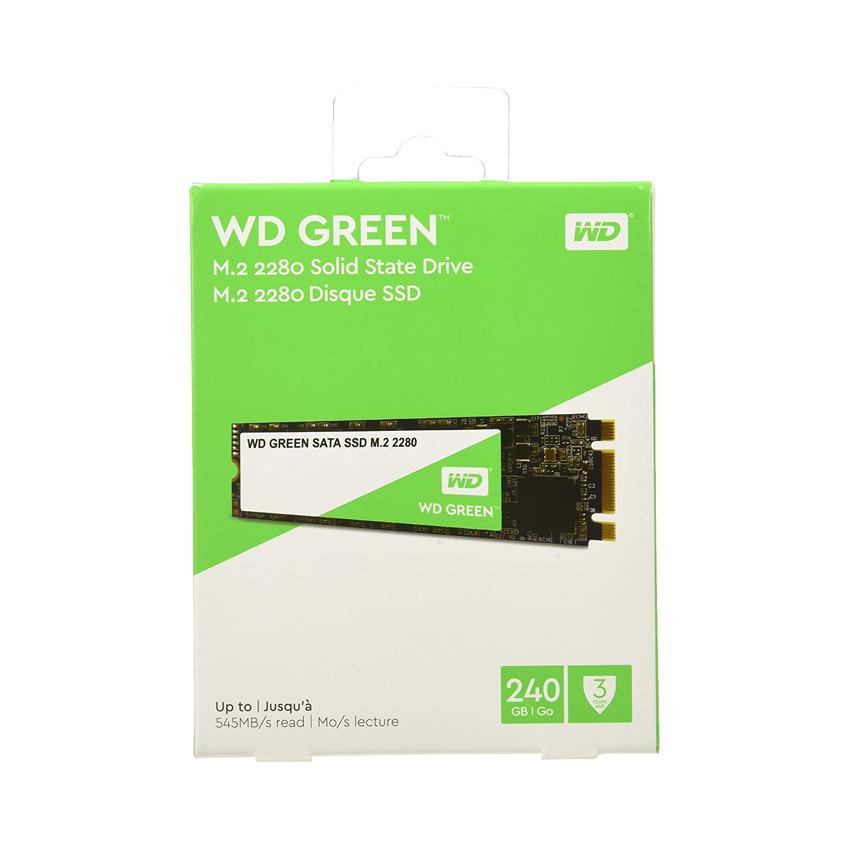 Ổ cứng SSD WD Green 240GB M.2 2280 (Đọc 545MB/s - Ghi 430MB/s) - (WDS240G2G0B) chính hãng
