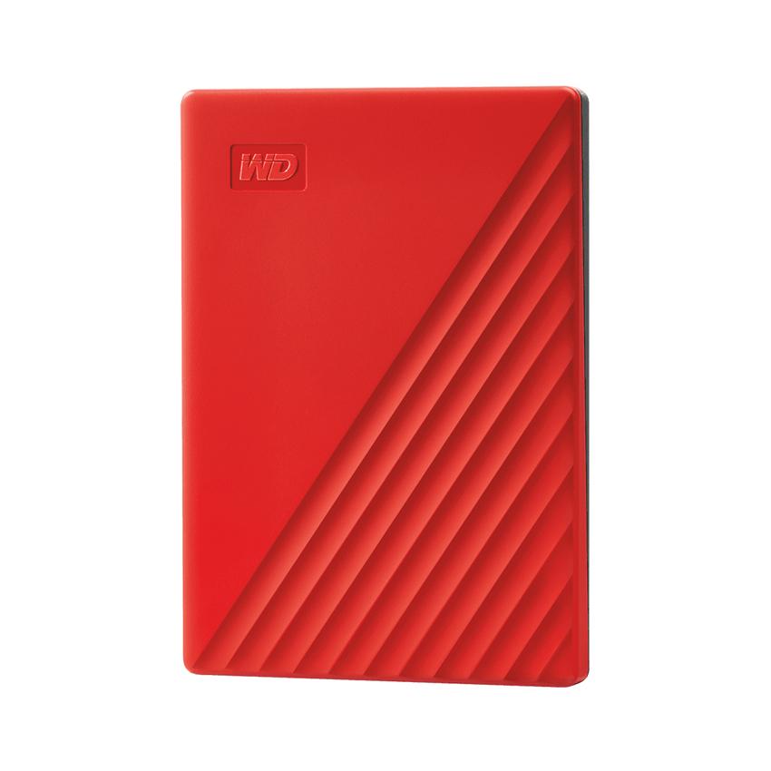 Ổ cứng gắn ngoài 2.5 inch 2T WD My Passport WDBYVG0020BRD-WESN USB 3.2 màu đỏ chính hãng