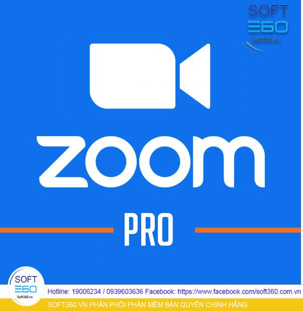 Phần mềm Zoom Cloud Meetings –Pro - 1 Year chính hãng