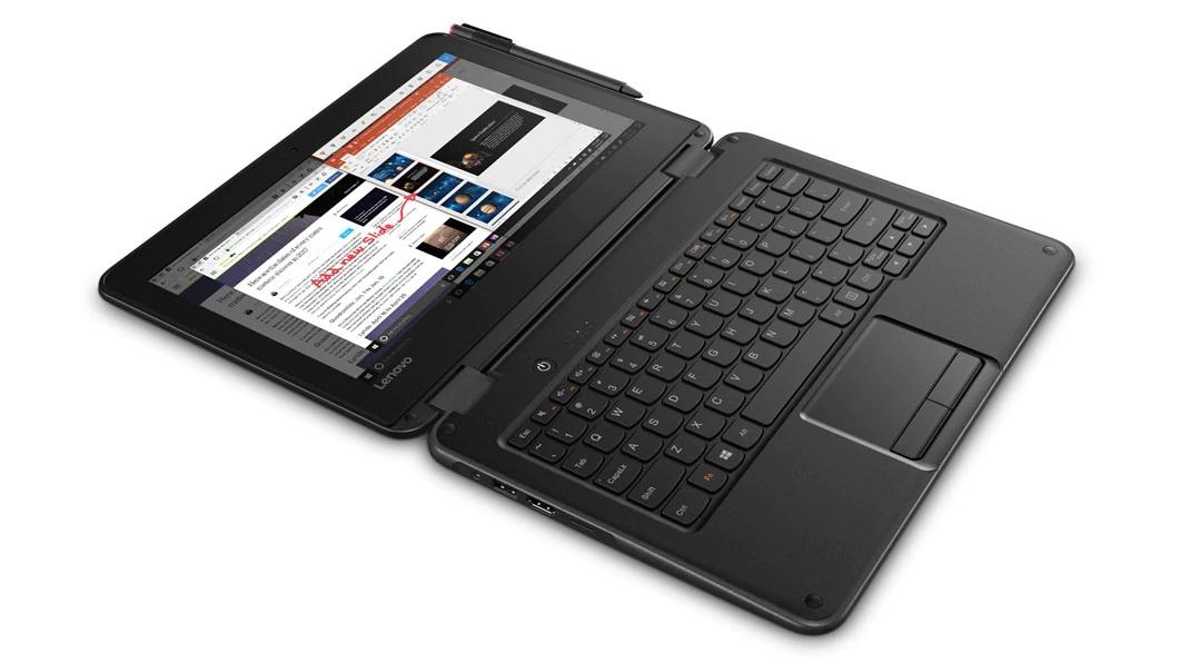 "Máy tính xách tay Lenovo 300e (11.6"") Intel® Celeron® N3450 Processor (1.10GHz,  up to 2.20GHz) Windows 10 chính hãng"