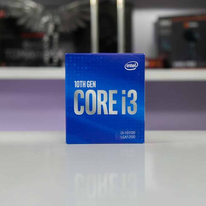 CPU Intel Core i3-10100 (3.6GHz turbo up to 4.3Ghz, 4 nhân 8 luồng, 6MB Cache, 65W) - Socket Intel LGA 1200 chính hãng