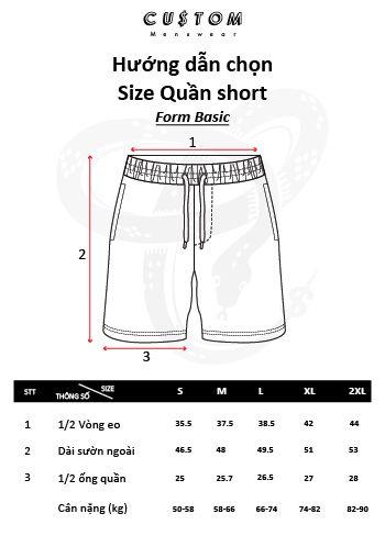 Hướng dẫn đo size Short CUSTOM