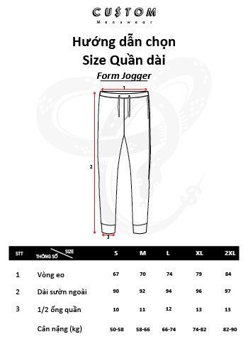 Hướng dẫn đo size Jogger CUSTOM