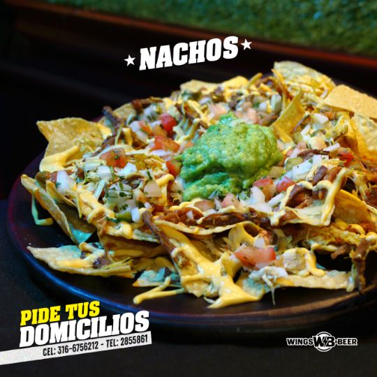 los mejores nachos wings and beer palmira