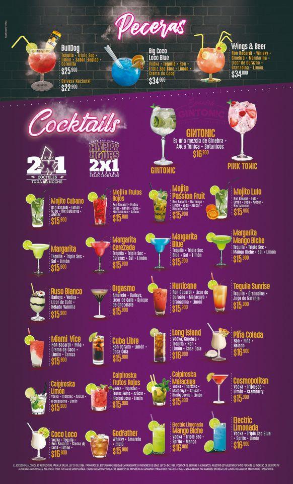 Los mejores cocteles de palmira - wings and beer