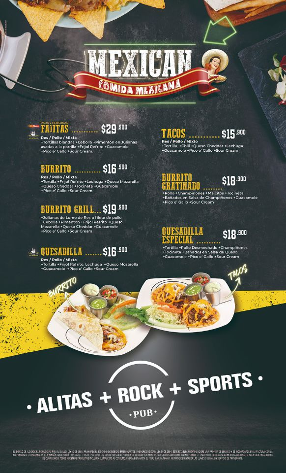 Comida Mexicana food wings and beer palmira