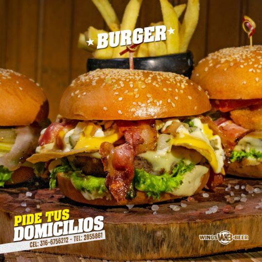 la mejor hamburguesa wings and beer palmira