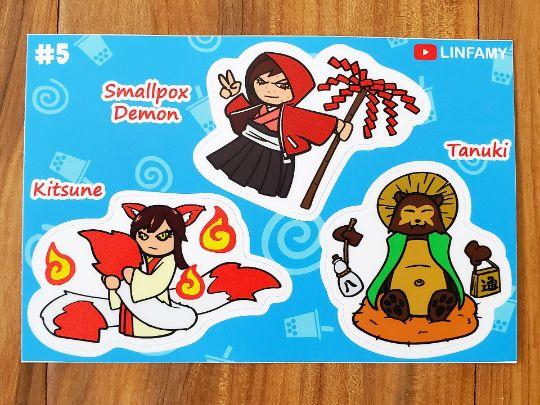ST005 - Kitsune, Smallpox Demon, Tanuki