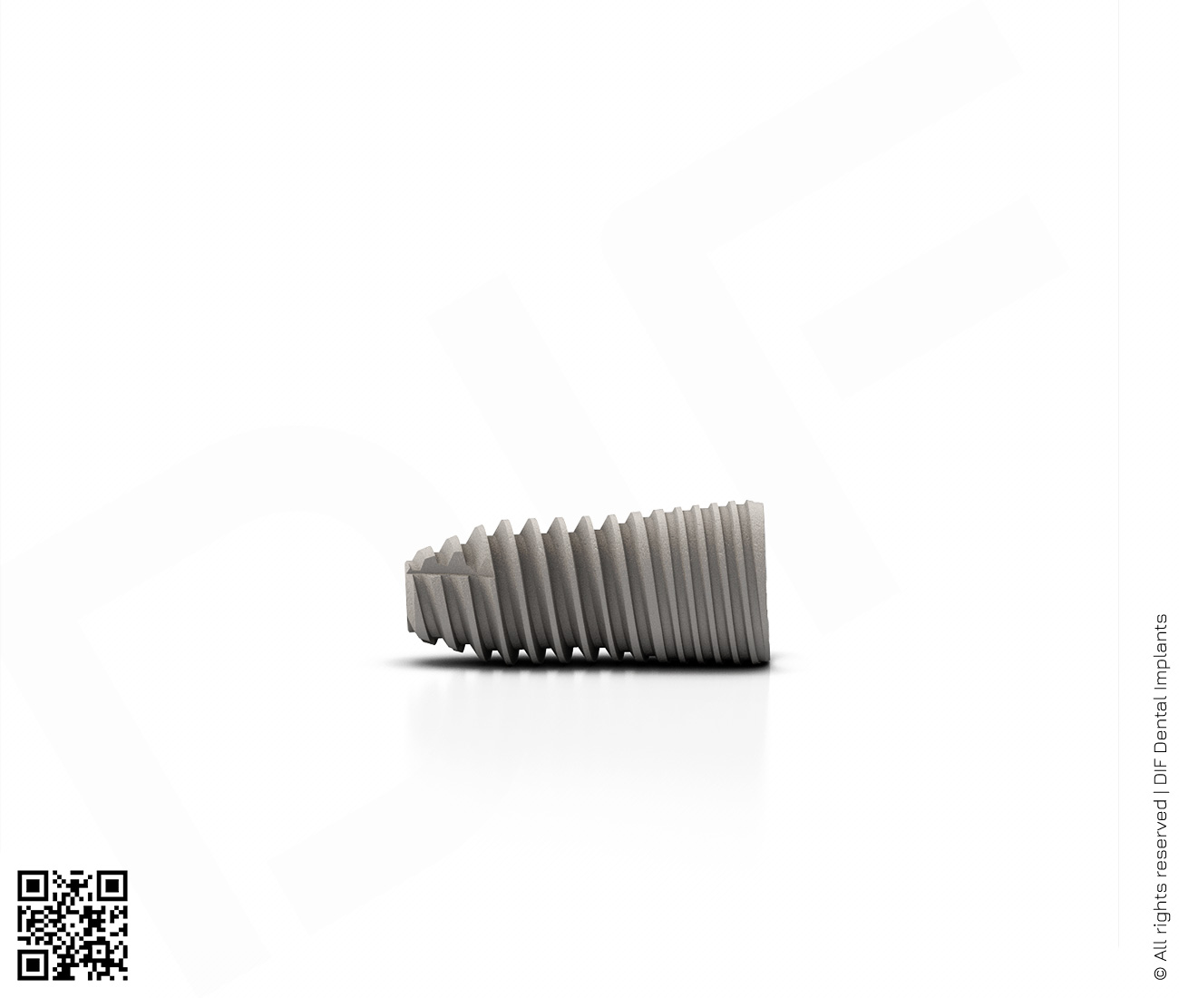 Фото имплантат mainstream fine d3.75 мм – l8.0 мм  производства DIF.