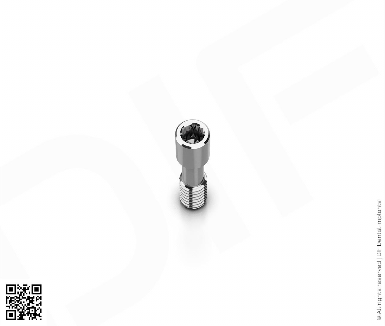 Фото винт титановый для абатмента d1.7 мм – h8.3 мм серии classic  производства DIF.