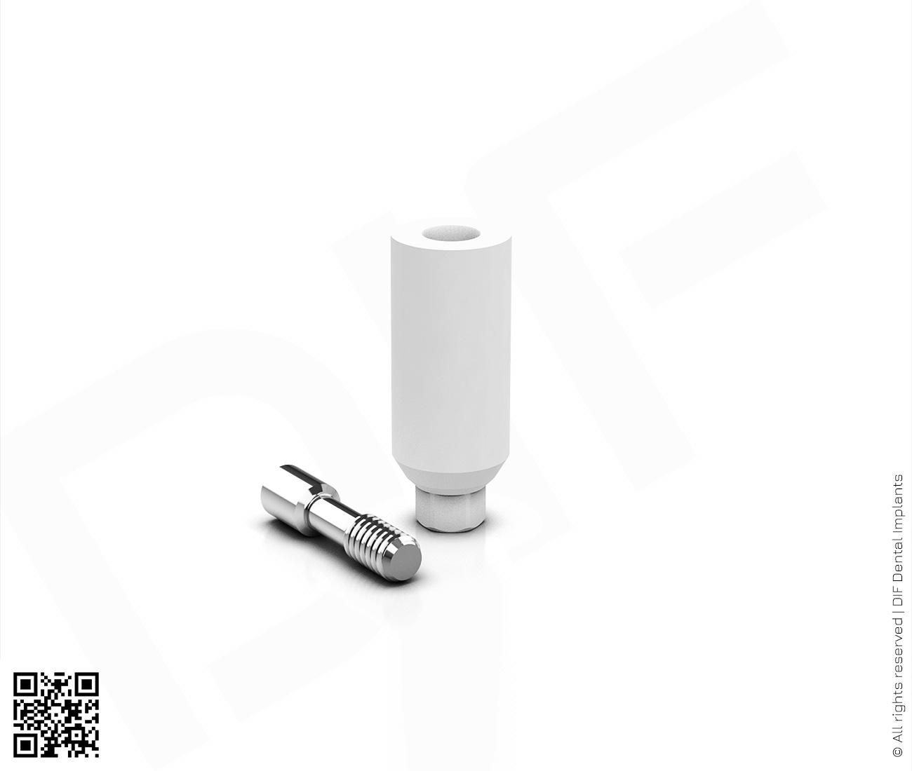 Фото абатмент пластиковый прямой d4.5 мм – h9.0 мм hex серии classic  производства DIF.
