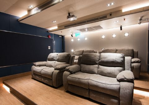 MINI THEATER<br>Here in the mini theater, you may choose to enjoy your favorite movies or cheer for your favorite football team.