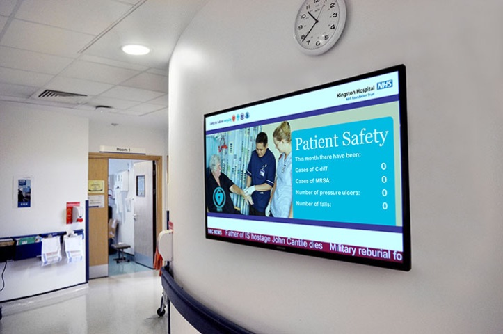 pantallas para hospitales