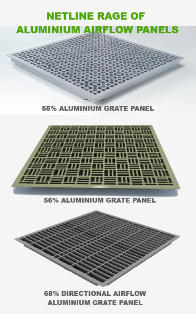 Netline range of aluminium airflow panels