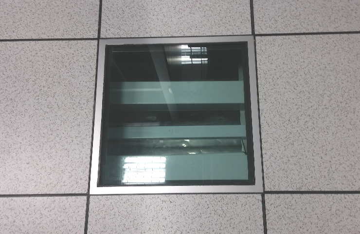 Netline Tempered Laminated Clear Glass Floor Panel