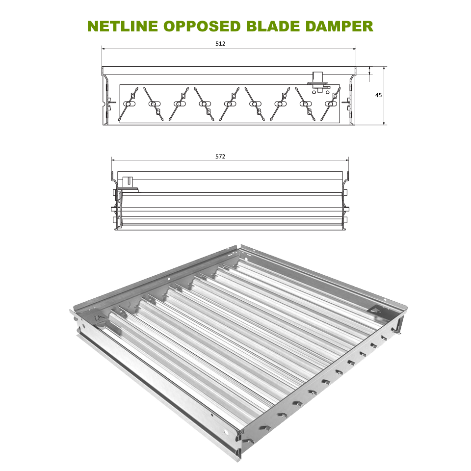 Netline Opposed Blade Damper