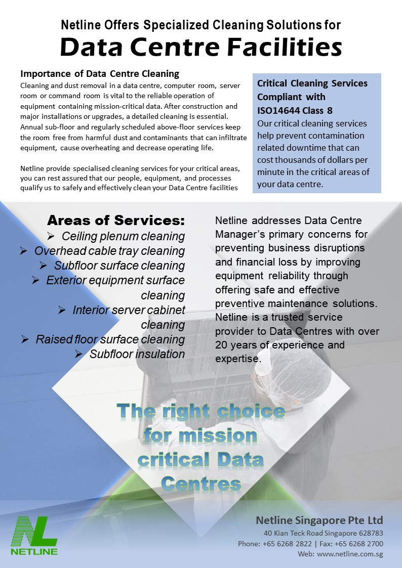 Professional Data Centre Cleaning Services - Importance of Data Centre Cleaning