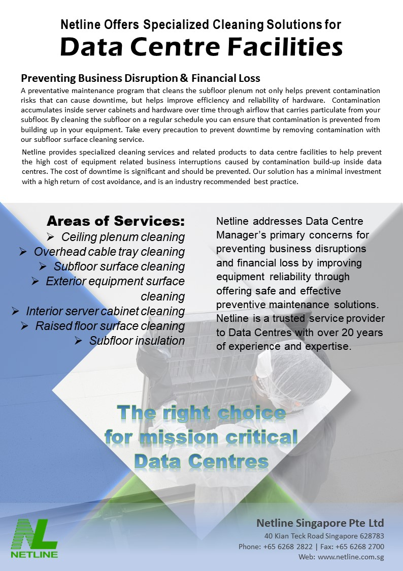 Professional Data Centre Cleaning Services - Preventing Business Disruption & Financial Loss