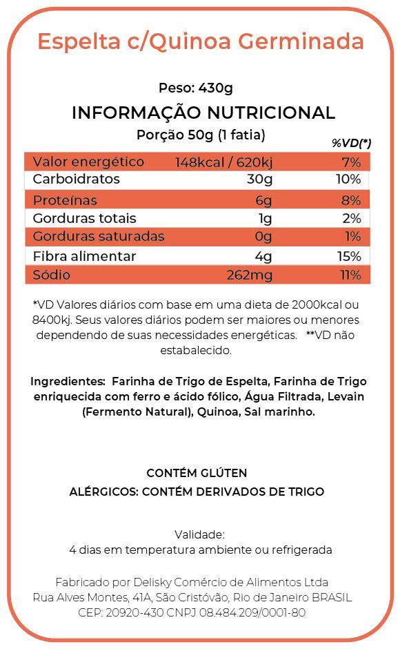 Espelta c/Quinoa - Informação Nutricional