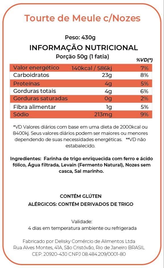Tourte de Meule - Informação Nutricional