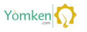 Yomken.com Logo, yellow and green