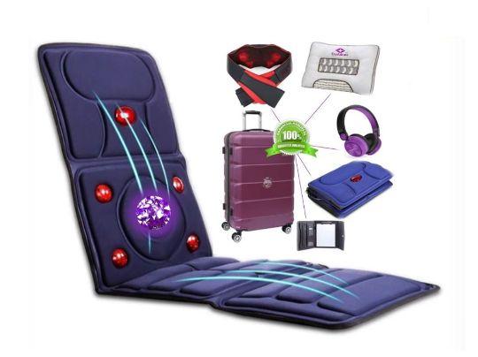 Premium Ametist Kristal terapeutsko masažni set, masažna podloga, shiatsu masažaeri za kućnu masažu